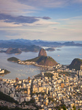 View over Sugarloaf Mountain and City Centre  Rio De Janeiro  Brazil