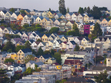 Typical Victorian Houses in San Francisco  California  USA