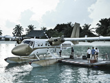Maldives  Seaplane at Resort