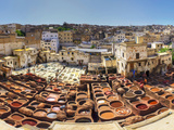 Morocco  Fes  Medina (Old Town)  Traditional Old Tanneries