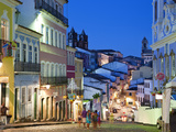 Historic Centre at Dusk  Pelourinho  Salvador  Bahia  Brazil