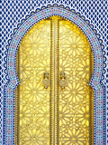 Royal Palace Door  Fes  Morocco