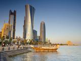Qatar  Doha  Left to Right Palm Tower  Al Bidda Tower and Burj Qatar