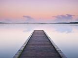 Jetty on the Lake Azur  Les Landes  Franc