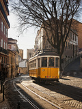 A Tramway in Alfama District  Lisbon