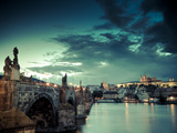 Czech Republic  Prague  Stare Mesto (Old Town)  Charles Bridge  Hradcany Castle and St Vitus Cathe