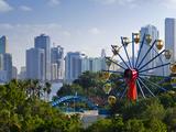 United Arab Emirates  Sharjah  Al Jazeera Park and Skyline Beside Khalid Lagoon