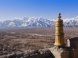India  Ladakh  Thiksey  View of the Indus Valley from Thiksey Monastery