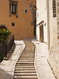 Italy  Umbria  Preci  Narrow Street in Preci  known Throughout Europe in Sixteenth Century for its