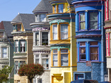Colourfully Painted Victorian Houses in the Haight-Ashbury District of San Francisco  California  U