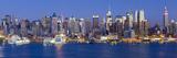 Manhattan  View of Midtown Manhattan across the Hudson River  New York  USA