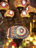 Lamps and Lanterns in Shop in the Grand Bazaar  Istanbul  Turkey