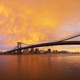 USA  New York City  Manhattan  Manhattan Bridge Spanning the East River