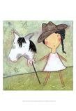 Cowgirl Reproduction d'art par Carla Sonheim