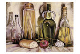 Pasta and Olive Oil Reproduction d'art par Theresa Kasun