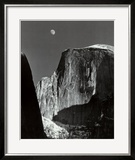 Moon and Half Dome  Yosemite National Park  1960