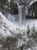 Tamanawas Falls in the Winter  Mt Hood National Forest  Oregon  USA