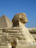 Sphinx and the Great Pyramid of Khufu (Cheops)  Giza  Cairo  Egypt