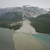 Glacial Alluvial Fan and Glacial Silt Runoff  Glacier Bay National Park  Alaska  USA