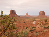 Monument Valley on the Navajo Indian Reservation Showing East Mitten  West Mitten