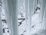 Icicles in Bridal Veil Falls  Pikes Peak State Park  Iowa  USA
