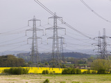 Electricity Towers and Transmission Lines Leaving Ratcliffe on Soar Coal-Fired Power Plant