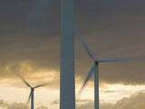 Wind Turbines Spinning