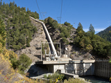 Belden Powerhouse and Penstock  North Fork of the Feather River  California  USA