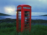 Phone Box or Booth on the Edge of Nowhere  Isle of Rum  Scotland