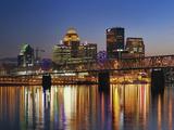 Skyline  Louisville  Kentucky at Dusk