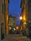 Twilight in Pienza  Italy  Tuscany