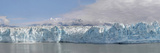 Panoramic View of Hubbard Glacier Emptying into Disenchantment Bay