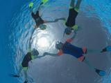 Children Snorkeling on Pool Surface in Star Shape  Egypt