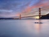 Sunset Behind the Golden Gate Bridge  San Francisco  California  USA