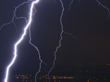 Cloud to Ground Lightning from a Severe Thunderstorm on the Colorado Front Range