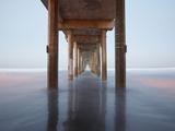 Sunrise View under the Scripps Pier  La Jolla  California  USA