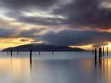 Sunrise over Angel Island  San Francisco Bay  California  USA