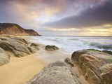 Surf at Gray Whale Cove  California  USA