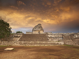 El Caracol Observatory in the Older Mayan Section of Chichen Itzin Yucatan Mexico