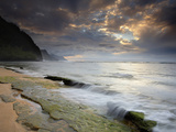 Kee Beach on Kauai's North Shore Is a Popular Place to Watch the Sunset  Hawaii  USA
