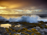 Waves Crashing at Dawn  Ahalanui  Puna  Big Island  Hawaii  USA