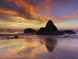 The Monolith  Grey Whale Cove at Low Tide  San Mateo County  California  USA