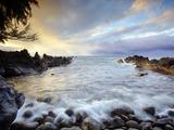 The Rocky Beach Cove at Laupahoehoe on the Hamakua Coast of the Big Island of Hawaii  USA