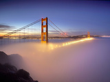 Layer of Low Fog and the Golden Gate Bridge  San Francisco  California  USA