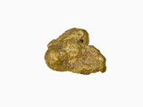 Gold Nugget  Stowe Vermont  Sample Courtesy of Perkins Museum of Geology  University of Vermont