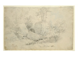 Boulders in Woodland  1800 (Pencil on Paper)