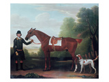 Lord Portman's 'snap' Held by Groom with Dog