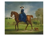 The Countess of Coningsby in the Costume of the Charlton Hunt  c1760