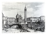 View of San Giorgio Dei Greci and the Flanginian School  Venice (Engraving)
