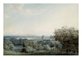 London from Greenwich Hill  C1791 (W/C  Black Ink and Wash over Graphite on Wove Paper)